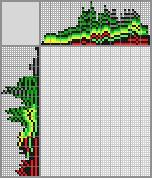 Японский кроссворд «Крокодил Гена»