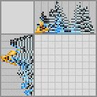 Японский кроссворд «Синий волнистый попугай»