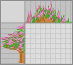 Японский кроссворд «Корзина с цветами»