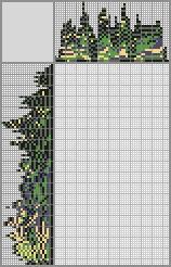 Японский кроссворд «Готическое окно с пейзажем»