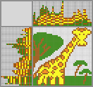Японский кроссворд «Жирафик»